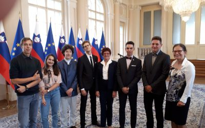 Sprejem dobitnikov zlatega priznanja MEPI pri predsedniku Republike Slovenije Borutu Pahorju