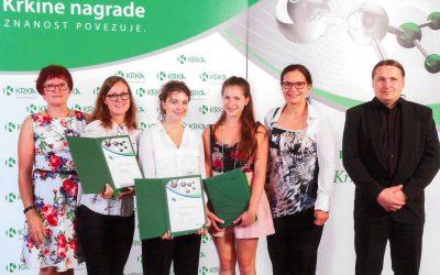 Krkina nagrada za raziskovalke Gimnazije Jesenice